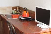 アースカラーの新し館!全室キッチン、カウンターテーブル&チェア、バス・トイレ付です♪