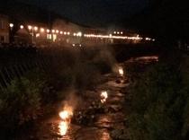 大川原の火流し2