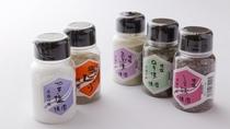 【お土産】赤穂の焼き塩(のり味・しそ味・こんぶ味・塩こしょう)