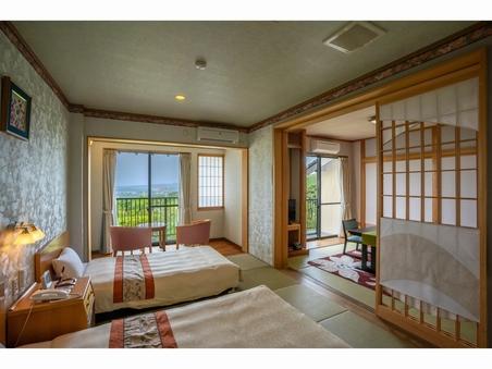 半露天風呂付和洋室【和室6畳+ツインベッド】