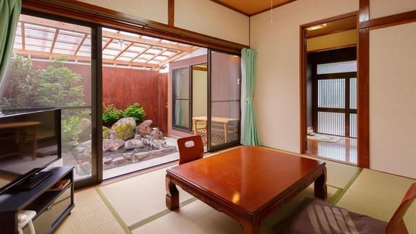 【木蓮】温泉岩風呂付き離れ:和室二間(6畳+4畳半)