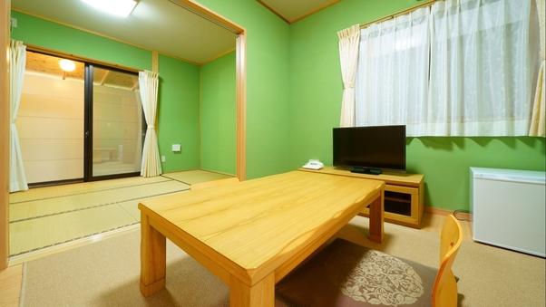 【すいせん】温泉陶器風呂付き客室:6畳和室+4.5畳和洋室