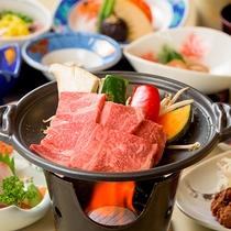 【夕食】陶板焼き