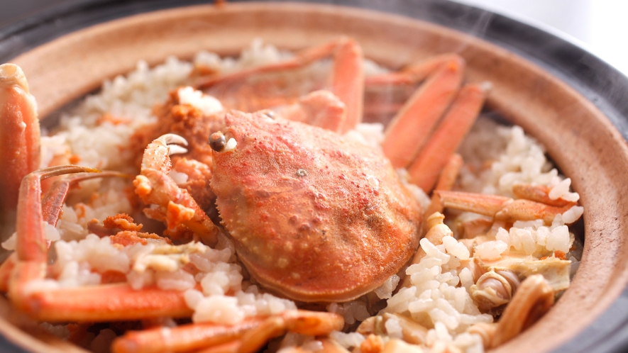 セコ蟹の炊き込み