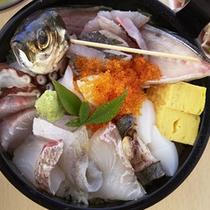 じげ丼(蒸し釜体験夕食)