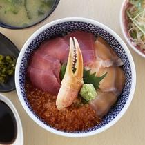 よそ丼(蒸し釜体験夕食)