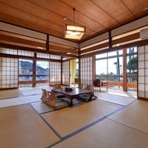 *和室12畳(客室一例)/畳の香りがほのかに薫るお部屋で、団欒のひと時をお過ごし下さい。