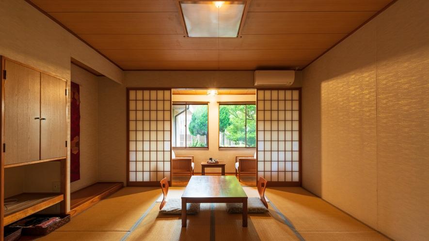 *【客室一例:和室8畳】足を伸ばして、ごゆっくりとお寛ぎ下さい。