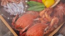 """*海鮮市場""""蒸し釜や""""では、小浜で獲れた新鮮な魚貝類を堪能できますよ♪"""
