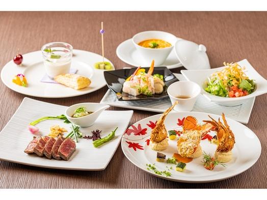 【美食B】 ロブスタークリーム煮・渡り蟹フリット&ビーフサーロインステーキ<平日>