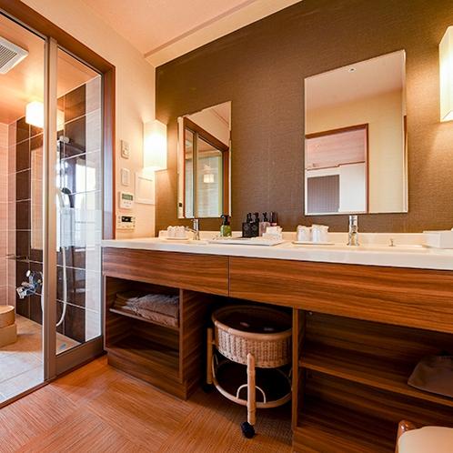 *ホテル棟客室/洗面スペース(客室一例)