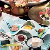*ヴィラ瑞鶴荘 和食会席(料理一例)