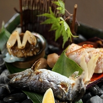 夕食一例 魚(海鮮)