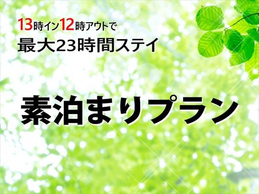 13時イン12時アウト☆素泊りシングルプラン