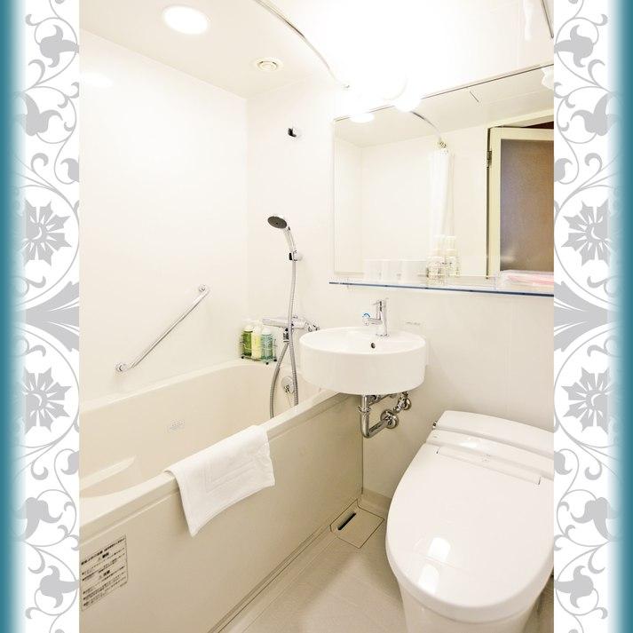 【バスルーム】 シングル、ダブル、スタンダードツイン、スーペリアツイン、和洋室のバスルーム