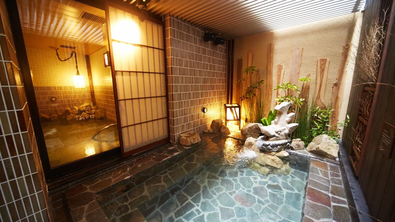 大浴場 外気浴と内湯