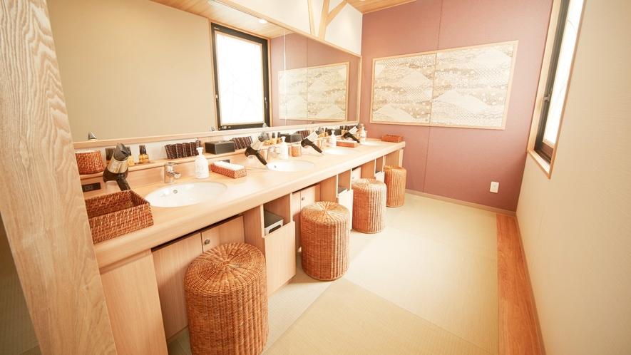 ■女性大浴場脱衣所