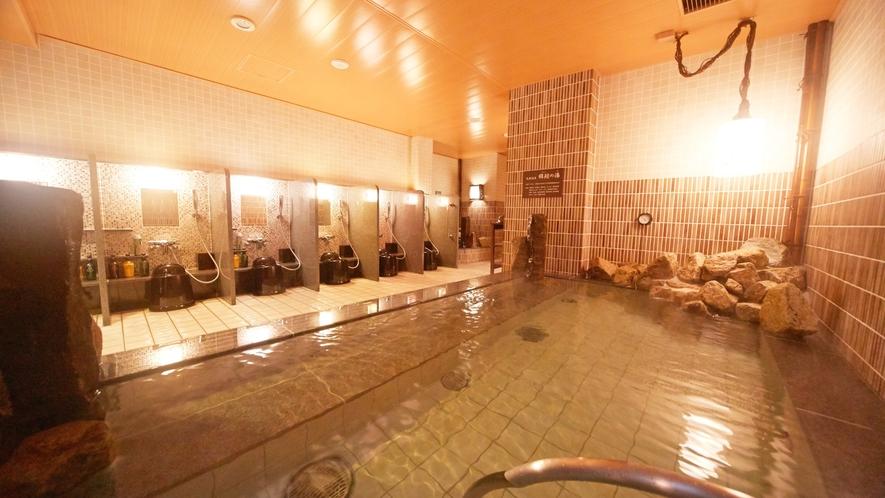 ■男性大浴場(内湯)湯温40~41℃ 源泉:岐阜県揖斐郡池田町さくら温泉