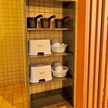◆お子様用の椅子と手桶
