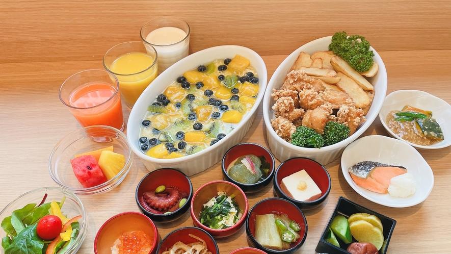 温物、小鉢、サラダ、デザート(一例)