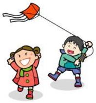 【昔遊び・伝承体験】竹馬、竹とんぼなどの昔のおもちゃを作ったり、田んぼの風景の中で自作の凧を上げ。