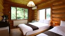 一部客室は開放的な2面窓