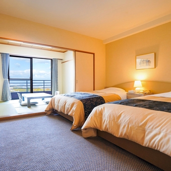 【禁煙】和洋室 33.20平米(2ベッド+和室6畳)