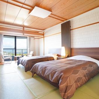 【禁煙】和ベッド (10畳+広縁)