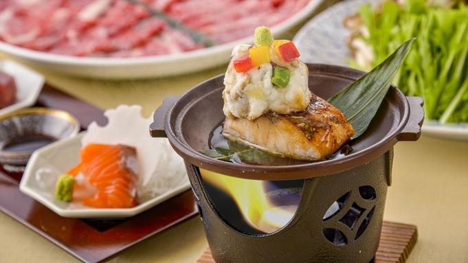 【夕食・朝食付】寒ブリのステーキと近江牛の食べ比べしゃぶしゃぶおすすめ御膳|2月まで