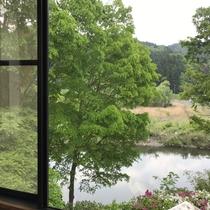 和室からの眺め(久慈川沿いのお部屋)