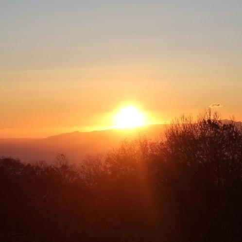 ◆デッキから見る日の出