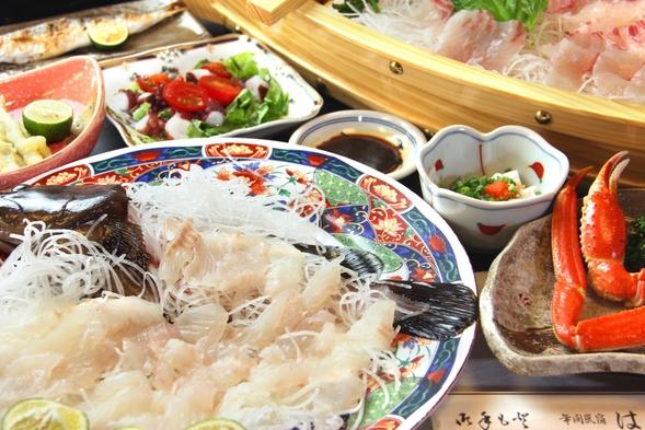 【本当の旨いはコレ!!】高級魚「クエ」と旬魚の姿盛り♪はちべ冬の海幸満腹プラン〔1泊2食付〕