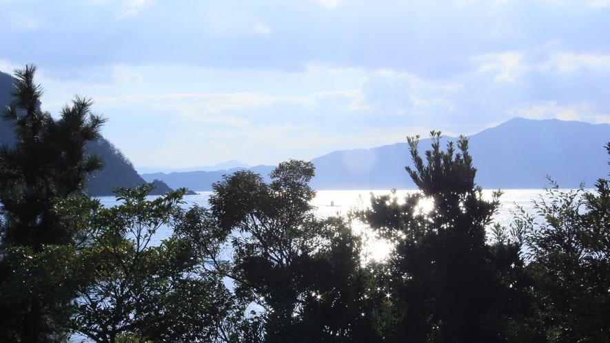 目の前に広がる日本海♪