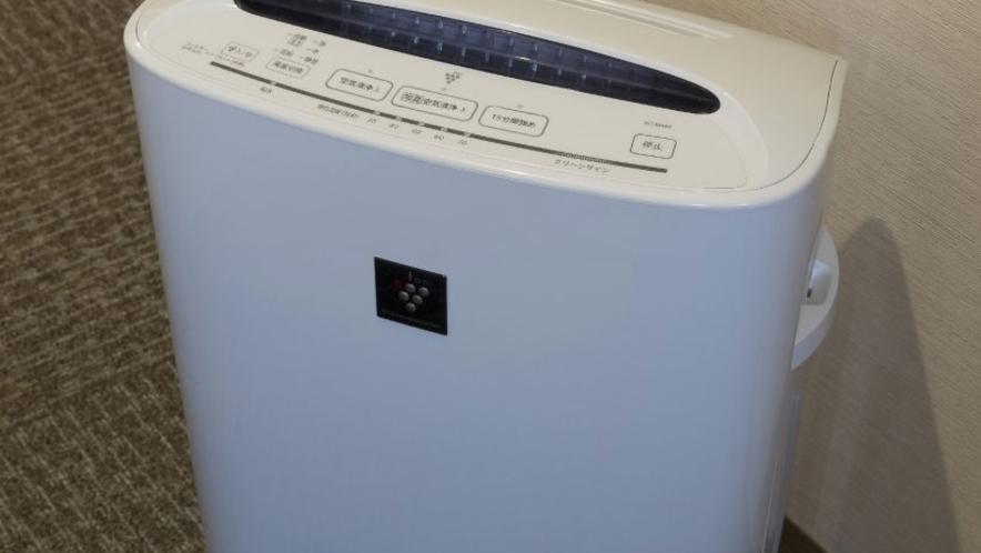 全室に加湿空気清浄機を完備しております