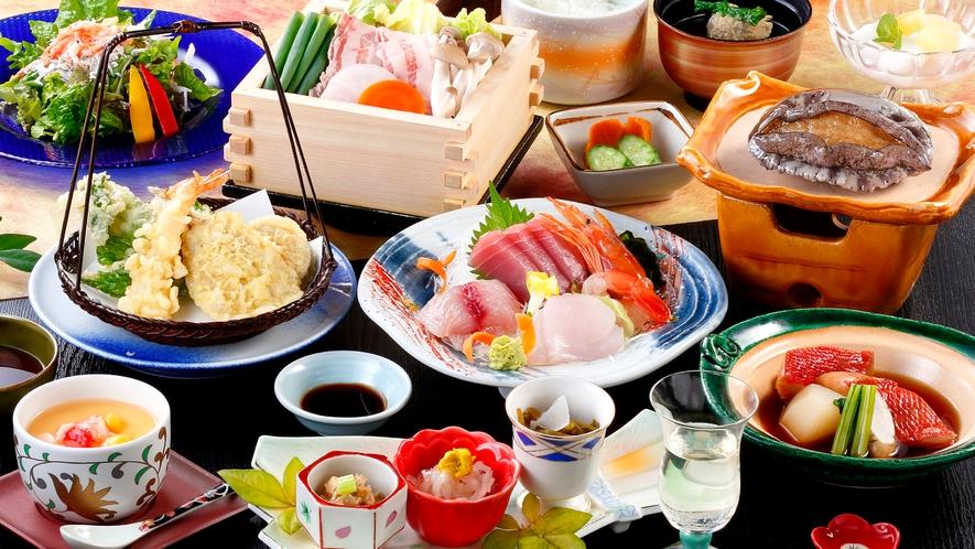 あわび付きのご夕食(イメージ)