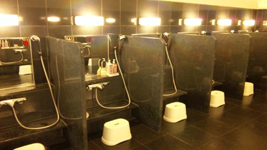 大浴場の洗い場(イメージ)
