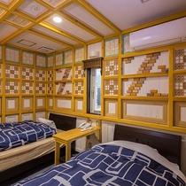 ●スタンダードツイン(201号) ベッドルーム