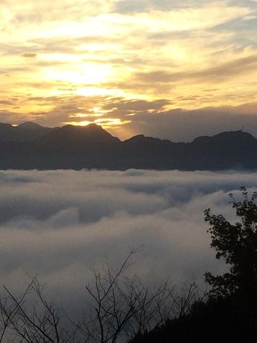 国見ヶ丘からの「雲海」