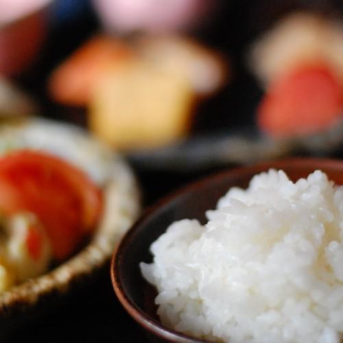 【食材・米】天皇陛下への献上米にもなった菊鹿米を特別に農家の方から分けていただき使用しております/例