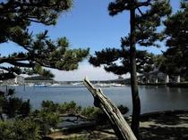 瀬戸神社、琵琶島から平潟湾を見た景色。当館より徒歩3分のシーサイドラ徒歩5分。散歩はいかがですか?