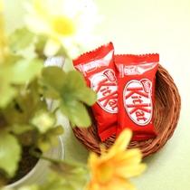 客室のお菓子◆甘い物でホッと一息してください♪