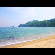 安木浜海水浴場までは徒歩1分!透明度がとても高い安木浜は知る人ぞ知る名所です!