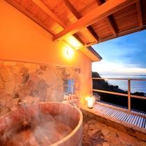 駿河湾を一望 貸切露天風呂