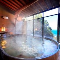 駿河湾を眺める大浴場・露天風呂
