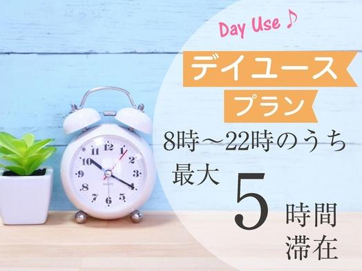 【日帰りデイユース】8:00〜22:00のうち最大5時間ご滞在OK★ 昼食弁当付き
