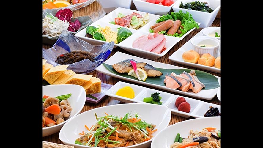 ・朝食バイキング_和洋折衷のメニューを多種ご用意いたしております