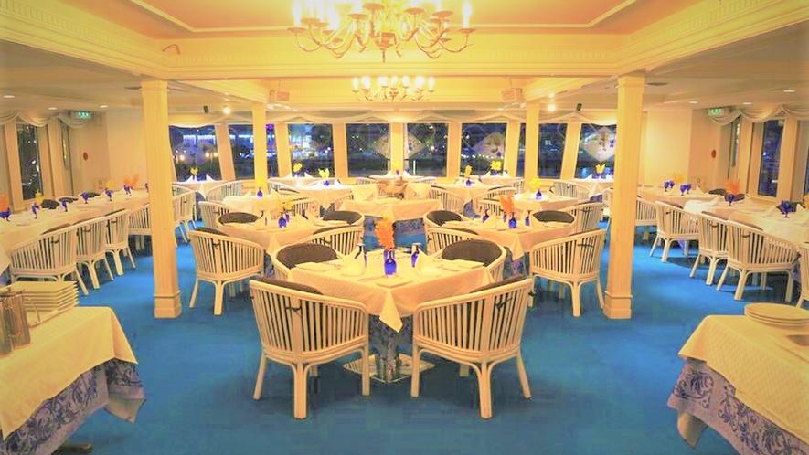 コンチェルト号のお食事会場はこちらです。