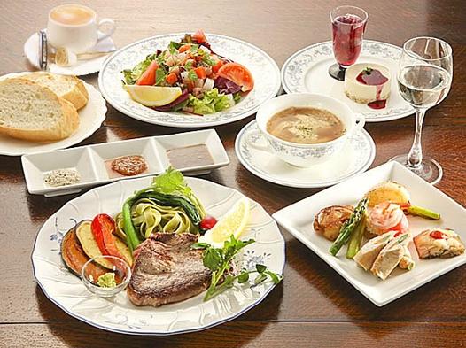コースディナー・メインは甲州ワインビーフステーキ!朝食は洋食か和食、選べます!夕食&朝食満喫プラン♪