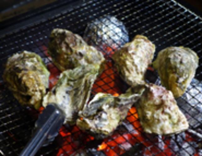能登牡蠣の炭火焼