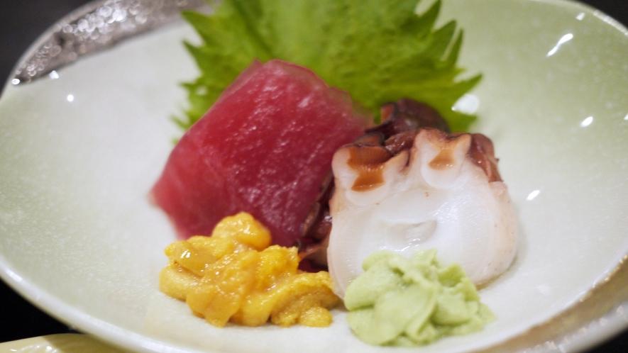 *夕食一例/新鮮なお刺身を召し上がれ♪